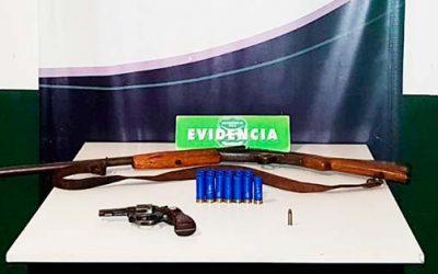 Por tenencia ilegal armas de fuego fueron detenidos cuatro sujeto con amplio prontuario policial