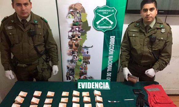Carabineros logra la detención de peligrosa banda delictual que se movilizaba en vehículo de alta gama