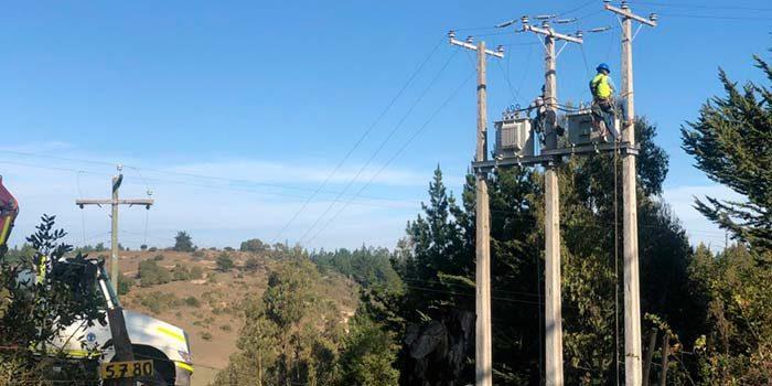CGE concluye nueva línea eléctrica en Navidad