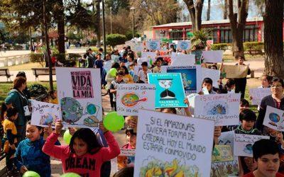 Con masiva marcha Graneros llamó a cuidar el medio ambiente