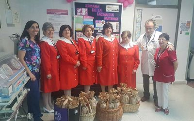 Damas de Rojo celebran el día del niño en Hospital de Santa Cruz