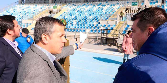 Intendente inspecciona las medidas de seguridad del Estadio El Teniente para partido O'Higgins vs Colo-Colo