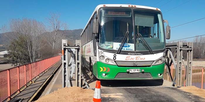 MOP O'Higgins habilita tránsito por puente mecano Alhué en Carretera de la Fruta