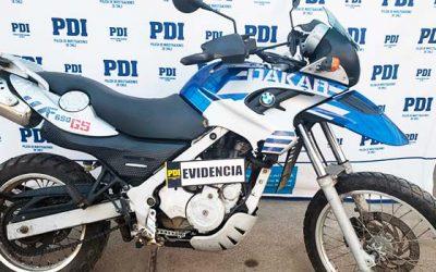 PDI recupera moto BMW en taller mecánico de Rancagua