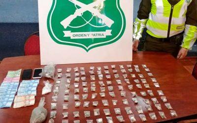 Por infracción a ley de drogas y cohecho fue detenido un sujeto en San Fernando