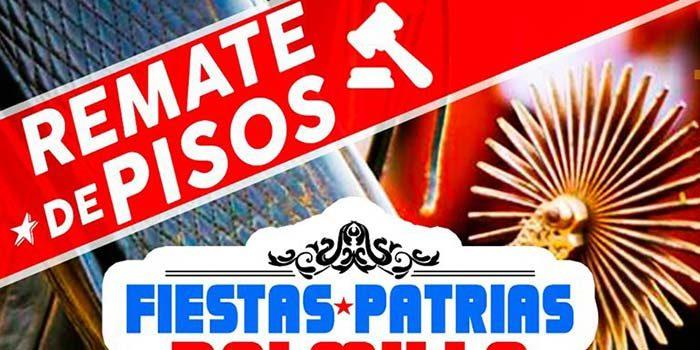 Remate de pisos para celebración de fiestas patrias 2019 en Palmilla
