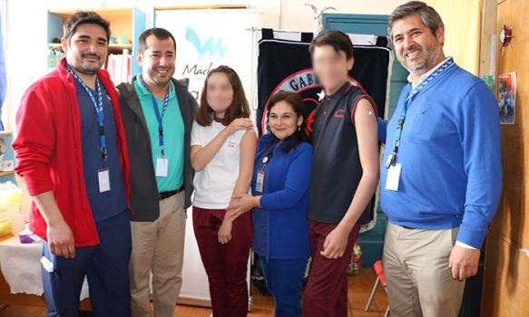Salud Machalí lanzó oficialmente vacunación escolar 2019 junto a escolares del Colegio Gabriela Mistral