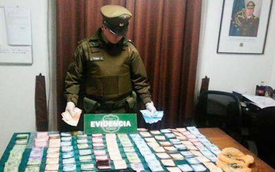 Sujeto fue detenido por carabineros por el delito de cohecho