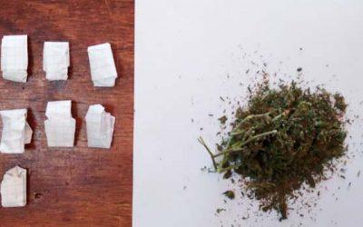 Sujeto fue sorprendido al interior de su vehículo comercializando droga