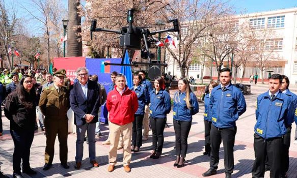 Con drones financiados por el Gobierno y nuevas bicicletas para Carabineros refuerzan la seguridad en Rancagua