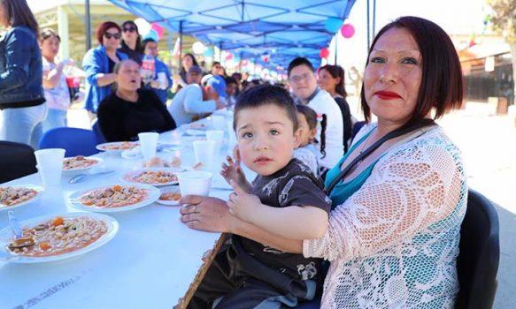 Con gran porotada familiar el sector Joaquín Flores recibió la primavera en Graneros