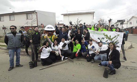 Jóvenes voluntarios participaron en Arborización Comunitaria en Graneros