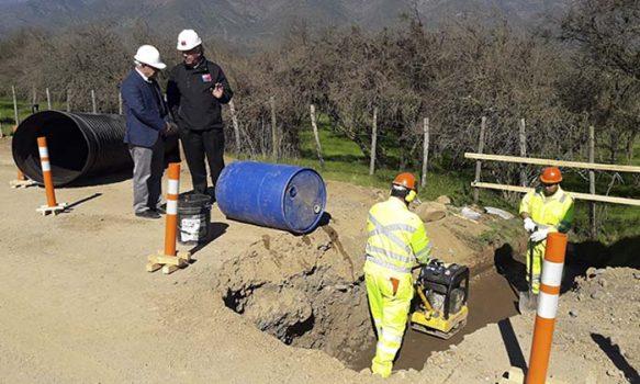 MOP O'Higgins inspecciona avances de trabajos en camino Pelequén-Polonia rutas H-721 e I-111
