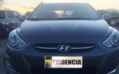 PDI recupera automóvil en Machalí