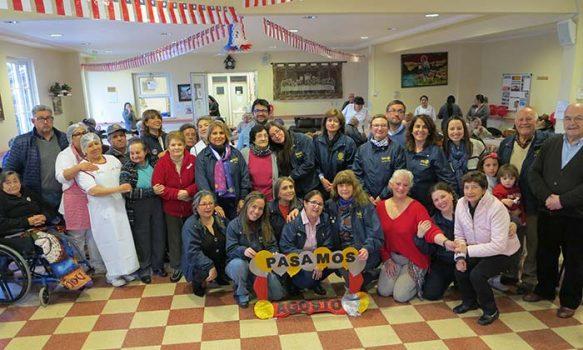 Rotarios de Santa Cruz entregan un momento de sana alegría a abuelitos de Fundación Las Rosas de Chépica
