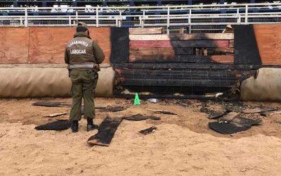 Carabineros investiga amago de incendio ocurrido en la medialuna de San Fernando