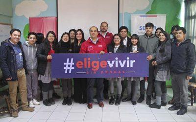 Director nacional del Senda visita colegio rancagüino para conversar con sus alumnos