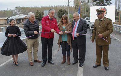 MOP O'Higgins inaugura puente y camino en Idahue comuna de Coltauco