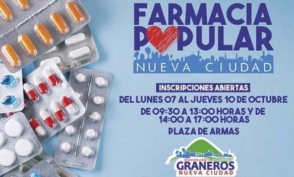 Municipio de Graneros llama a inscribirse para ser usuario de la Farmacia Popular
