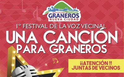 """Municipio invita a participar del 1er Festival de la Voz """"Una Canción Para Graneros"""""""