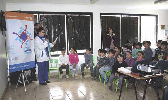 Salud Machalí y Rotary Club San Juan promueven la protección del agua en escolares de la comuna