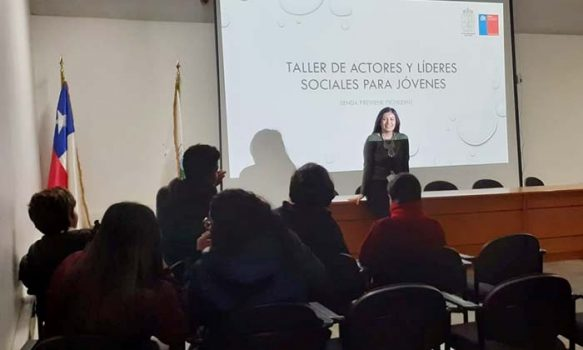 Senda Previene Pichilemu realiza 3ra. sesión de Taller de Liderazgo para Centros de alumnos de establecimientos educacionales.