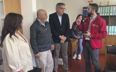 Seremi de Bienes Nacionales y alcalde de Rancagua visitan nuevas dependencias de Centro de Desarrollo Comunitario Sur