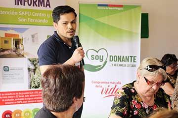 Hospital San Fernando realizó charla sobre donación de órganos a adultos mayores