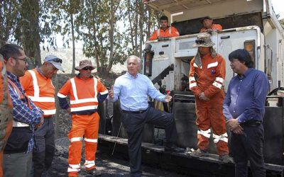 Seremi MOP visita obras de camino rural en Lolol
