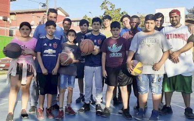 Comienza el taller municipal de básquetbol en población Algarrobo 4