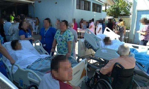 Evacuación total del Hospital de San Vicente por simulacro de incendio