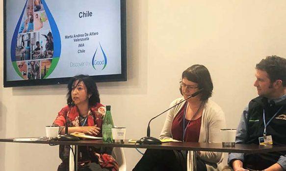 """Marta Alfaro: """"La COP25 nos permite relevar el trabajo realizado por INIA frente al cambio climático"""""""