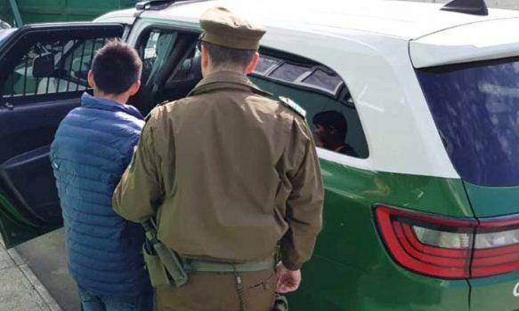 Sujetos prófugos de la justicia fue detenido por carabineros