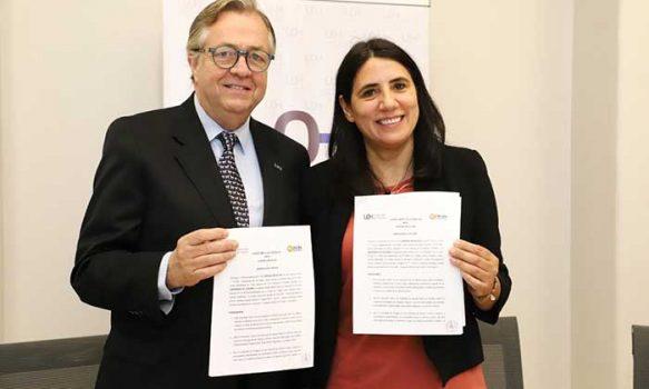 UOH y Corporación Opción firman convenio para prácticas e investigación académica