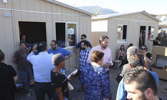 Vecinos de Villas Origen y Millahue de San Fernando recibieron viviendas de emergencia