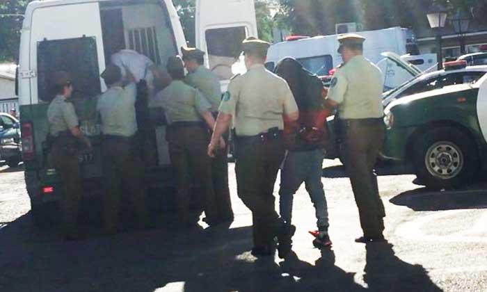 Cuatro sujetos prófugos de la justicia fueron detenidos por carabineros