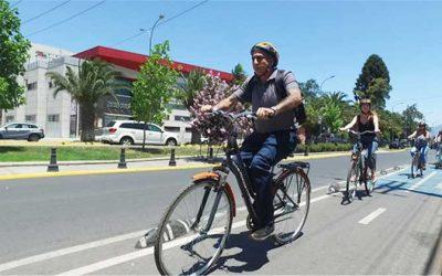Equipo técnico vista Rancagua para ver funcionamiento de sistema de ciclovías de la ciudad