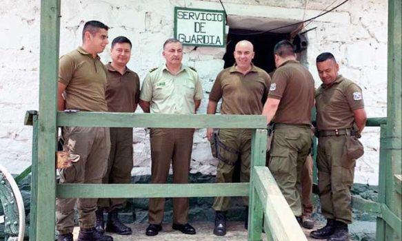 General Chaván visitó Avanzadas Fronterizas de la región de O'Higgins