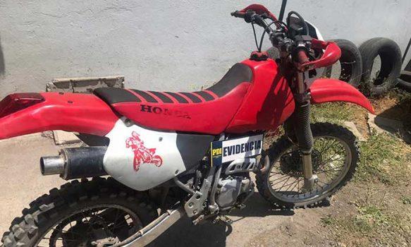 PDI recupera moto robada que estaba siendo ofertada por Facebook