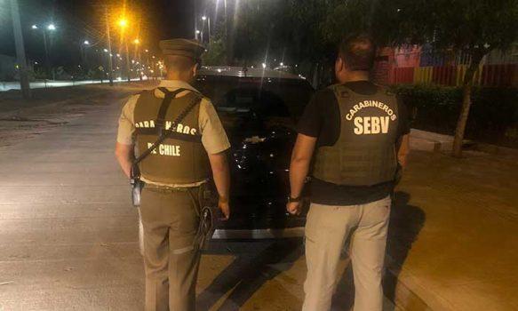 Sebv de Carabineros recupera automóvil robado desde automotora
