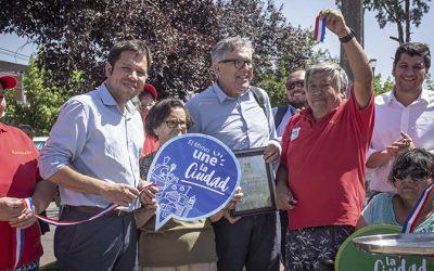 Vecinos del Barrio Santa Filomena inauguran mejoramientos de Calle Los Olivos gracias al Programa Quiero Mi Barrio