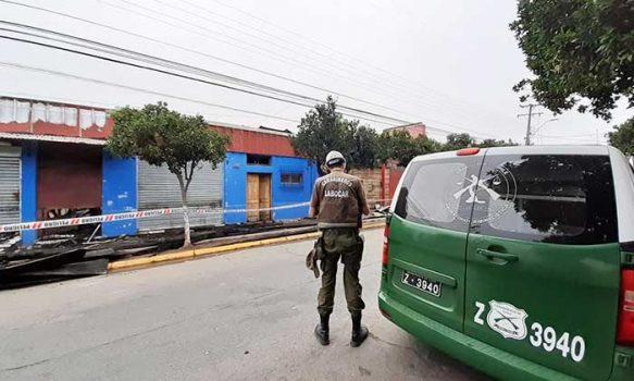 Carabineros investiga incendio que destruyó a más de seis locales comerciales