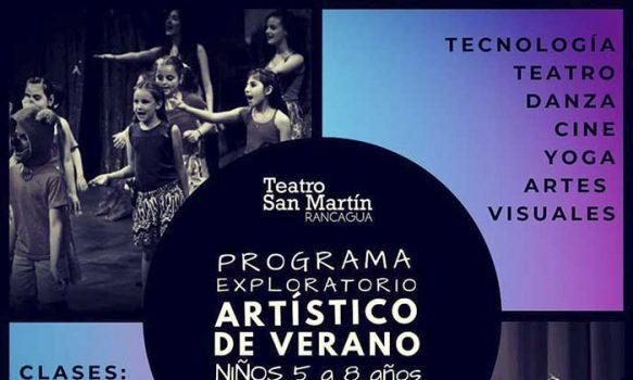 Programa exploratorio artístico para niños y niñas en Rancagua