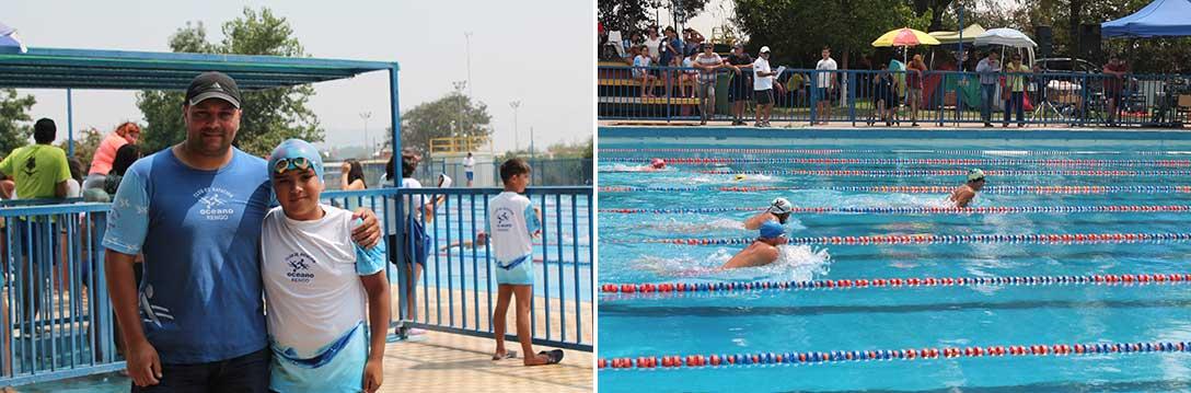 Rengo: Más de 300 nadadores participan del Séptimo Campeonato de Natación