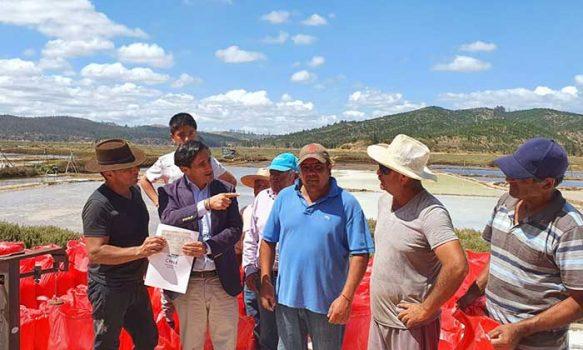 Salineros de Lo Valdivia agradecen beneficios de la Seremi de Minería que permitieron una cosecha de sal exitosa