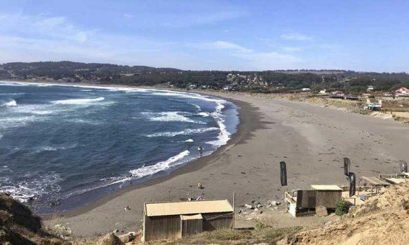 Autoridades Regionales sobrevolaron Pichilemu para constatar la presencia de turistas en las playas