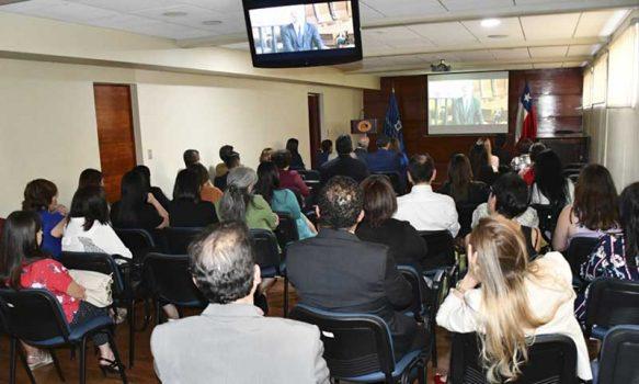 Funcionarias de tribunales de Rancagua presenciaron charla con motivo del día internacional de la mujer