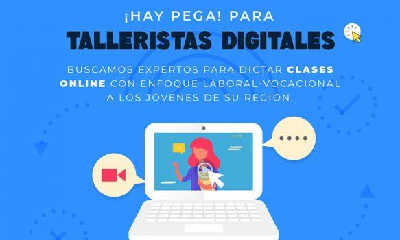 Injuv financia a talleristas online en temáticas laborales/vocacionales