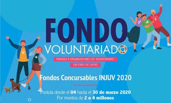 Injuv lanza fondo concursable para organizaciones de voluntariado