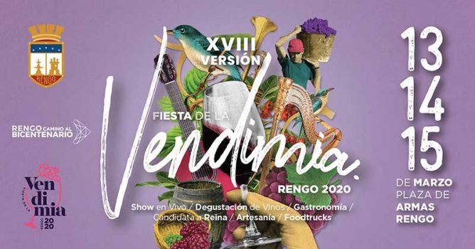 Los días 13, 14 y 15 de marzo Rengo celebra su vendimia 2020